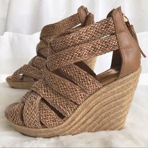 Dolce Vita Woven Platform Wedge Sandals